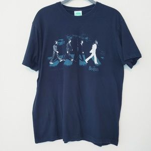VTG The Beatles Abbey Road Black T-Shirt. Size M